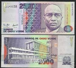 Cape Verde 2500 Escudos P61 1989 Flag Assembly Unc Currency Money Bill Bank Note