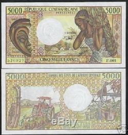 Central African Republic 5000 5,000 Francs P12 1984 Mine Unc Currency (car) Note