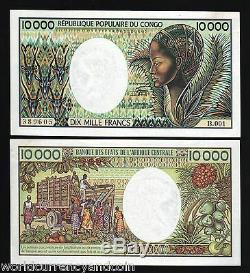 Congo Republic 10000 Francs P7 1983 Antelope Unc Africa Currency Money Bill Note
