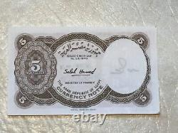 EGYPT UNC BILL 5P 1940 Silver 2P 1321 Cleopatra Pyramid Coin stamp Pyramid 1888