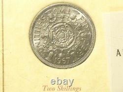 Elizabeth II Pre Decimal Currency & 3 Banknotes Unc Framed 1953 1971