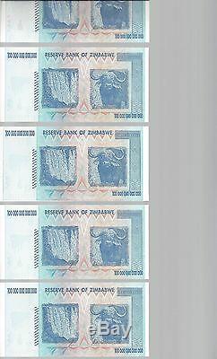 Error, 100 Trillion Zimbabwe Dollar Money Currency. Unc 10 20 50