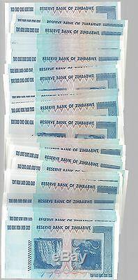 Error In Bundle, 100 Trillion Zimbabwe Dollar Money Currency. Unc 10 20 50