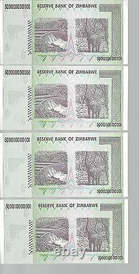 Error In Bundle, 50 Trillion Zimbabwe Dollar Money Currency. Unc 10 20 100