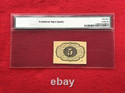 FR-1230 First Issue 5c Cent Fractional/Postage Currency PMG 64 EPQ Choice UNC