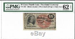 FR 1267 15 CENTS 4th ISSUE FRACTIONAL CURRENCY PMG 62 EPQ UNC FREE SHIPPING