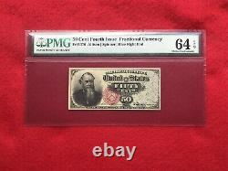 FR-1376 Fourth Issue Fractional Currency 50c StantonPMG 64 EPQ Choice Unc