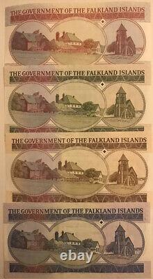 Falkland Banknote Set Of 5 50 Pound, 2005 2011 UNC Currency