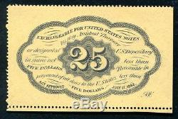 Fr. 1279 25 Twenty Five Cents First Issue Fractional Currency Perforated Unc
