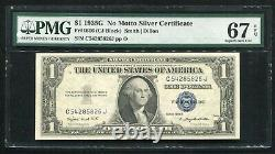 Fr. 1616 1935-g $1 One Dollar Silver Certificate Currency Note Pmg Gem Unc-67epq