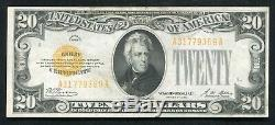 Fr. 2402 1928 $20 Twenty Dollars Gold Certificate Currency Note About Unc
