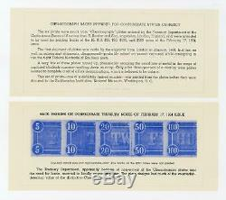 (Full Set) Chemicograph Backs Intended for C. S. A. Currency with Envelope AU/UNC