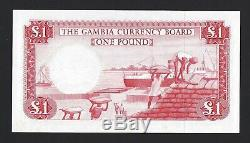 GAMBIA 1 Pound ND (1965-70) P-2 Currency Board, Pack Fresh Ch. UNC & Desirable