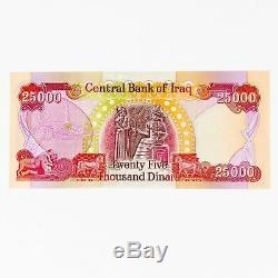Iraqi Dinar 25,000 x 3 Iraq Currency Banknotes = 75,000 Uncirculated IQD 25K