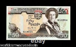 Jersey 50 Pounds P-30 2000 Queen Millennium Unc Currency Money Bill Note GB Uk