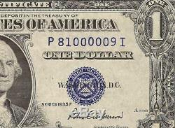 LOW NUMBER 9 UNC 1935F $1 DOLLAR BILL SILVER CERTIFICATE NOTE CURRENCY Fr 1615