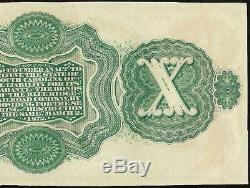 Large 1872 $10 Dollar Bill South Carolina Note Currency Big Paper Money Unc