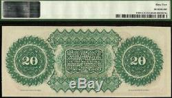 Large Unc 1872 $20 Dollar Bill South Carolina Note Currency Paper Money Pmg 64