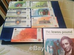 Lewis Pounds banknotes, Local Currency UNC All 2nd issue notes