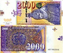 MACEDONIA 2,000 Denar Banknote World Paper Money Currency PICK p24 2016 Bill