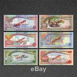 Maldives Islands Banknote Matching serial number 1983 Paper Set UNC Rare 6