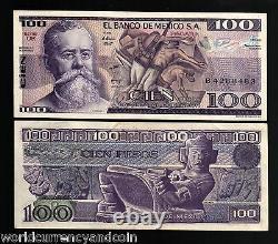 Mexico 100 Pesos P74c 1982 Bundle Painting Unc Currency Money Banknote 100 Pcs