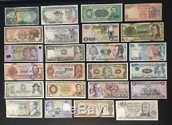 Mint World Bank Notes UNC Currency Lot Collection Set (24 + 1 Bonus)