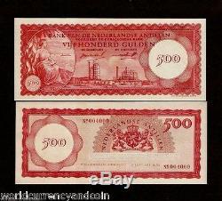 Netherlands Antilles 500 Gulden P7 1962 Oil Ship Unc Money Bill Dutch Bank Note