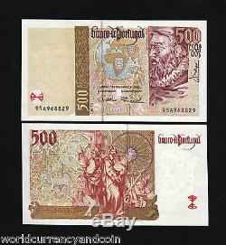 Portugal 500 Escudos P187 7-11-2000 Millennium Euro Unc Currency Billnote 10 Pcs