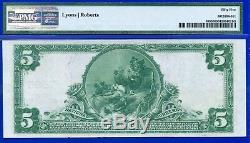 Rare 1902 $5 National Currency PMG About-UNC 55 (Worcester) # 420178