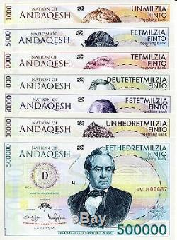 Rare Limited edition Mujand Series FUN Banknotes 38 Notes + MORE Currency Set
