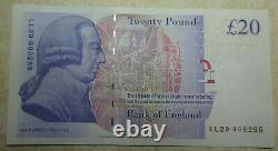 Real bank of england currency £20 twenty pound banknotes 2007 2012 2015 UNC-Fine