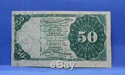 Series 1801 Fifty Cents Fractional Currency Choice Uncirculated