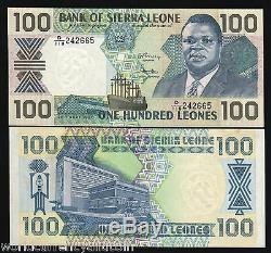 Sierra Leone 100 Leones P18 1990 Bundle Ship Unc Currency Money Bank Note 50 Pcs