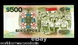 Singapore $500 Dollars P24 1988 Ship Armed Forces Unc Currency Money Bill Note