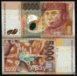 Slovakia 5000 Koruna P43 2003 Pre Euro Sun Moon Unc Rare World Currency Banknote