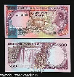 St. Thomas & Prince 500 Dobras P-54 1977 Turtle Unc Rare Currency Animal Banknote