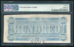 T-65 1864 $100 Csa Confederate States Of America Currency Note Pmg Unc-62epq