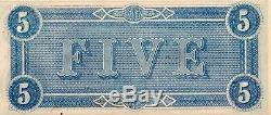 T-69 $5 1864 Confederate Currency CSA UNC Exceptional Quality