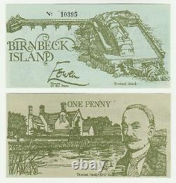 UK Britain Birnbeck Island 1d 1 Penny 1970s UNC Local Currency Banknote