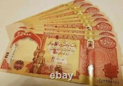 UNC 10 X 25000 New Iraq 2003 Dinar Banknotes 250000 IQD Currency Verified