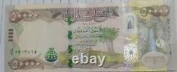 UNC 1/2 Million 10 X 50000 New Iraq Dinar Banknotes 50000 IQD Currency Verified