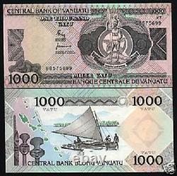 Vanuatu 1000 1,000 Vatu P-3 1982 Men Boat Unc Currency Bill Pacific Bank Note