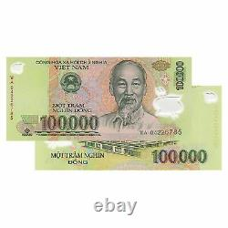 Vietnam 100,000 X 10 Pieces (PCS)= 1 Million Dong Currency VND UNCIRCULATED UNC