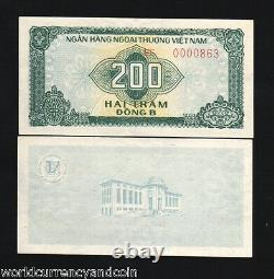Vietnam 200 Dong P Fx-5 1987 Foreign Exchange Fec Unc Vietnamese Currency Note