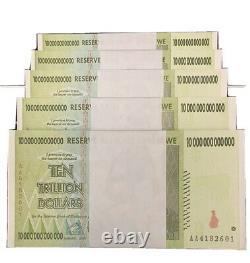 Zimbabwe 10 trillion Dollars x 100 pcs AA 2008 P88 VF UNC currency bills bundle
