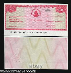 Zimbabwe 5000 5,000 Dollars P-16 2003 Unc Rare Currency Money Bank Note
