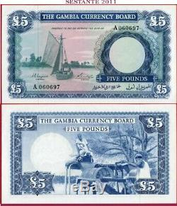 (com) GAMBIA CURRENCY BOARD 5 POUNDS nd 1965/70 PREFIX A P 3 UNC perfect