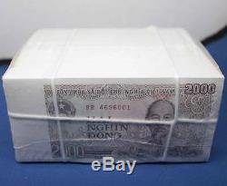 1000 Pcs 2000 Dong Vietnam Billets Banknote Unc Asie Monnaie Collection