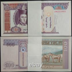 1000pcs 2008 Mongolie 100 Tugrik Banknote Monnaie Unc Bundle